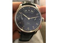 IWC Portuguese Blue Dial on Leather strap Annual Day Date