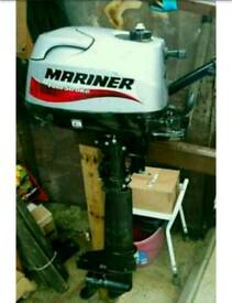 As New Mint Condition Mariner 6hp Outboard