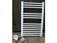 White filled Electric Towel Radiator