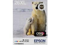 EPSON GENUINE 26XL POLAR BEAR INKJET CARTRIDGES