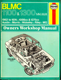 HAYNES BRITISH LEYLAND BLMC 1100 & 1300 WORKSHOP MANUAL 1962 to 1974