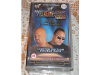 VHS Tapes- WWF-No Mercy & Wrestle Mania X-Seven - Ltd Edition Double Pack (2001)