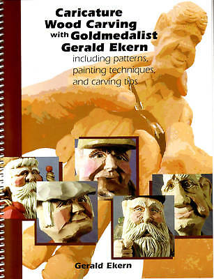 Caricature Wood Carving Book Patterns Tips SALE /Ekern