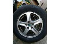 Skoda wheel with tyres