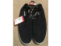 2 pairs, Size 10, Men's Plimsoles - Black and Grey