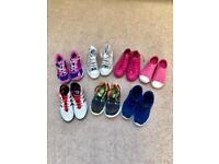 Girls trainers Converse/Joules/Adidas/Nike size 3&4
