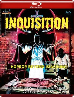INQUISITION Mondo Macabro RED CASE Blu-Ray LIMITED EDITION Paul Naschy UNCUT OOP