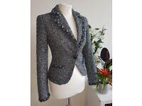 ZARA Basic Wool mix smart jacket coat SIZE S