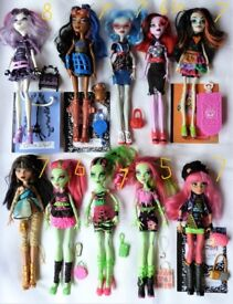 Monster High Dolls Mix. Ind Priced from £5. Ghoulia, Catrine, Howleen, Cleo, Venus...