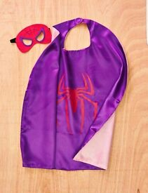 Childrens superhero cape and mask sets