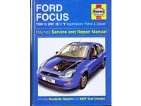 HAYNES FORD FOCUS MANUAL 1998 - 2001 PETROL & DIESEL