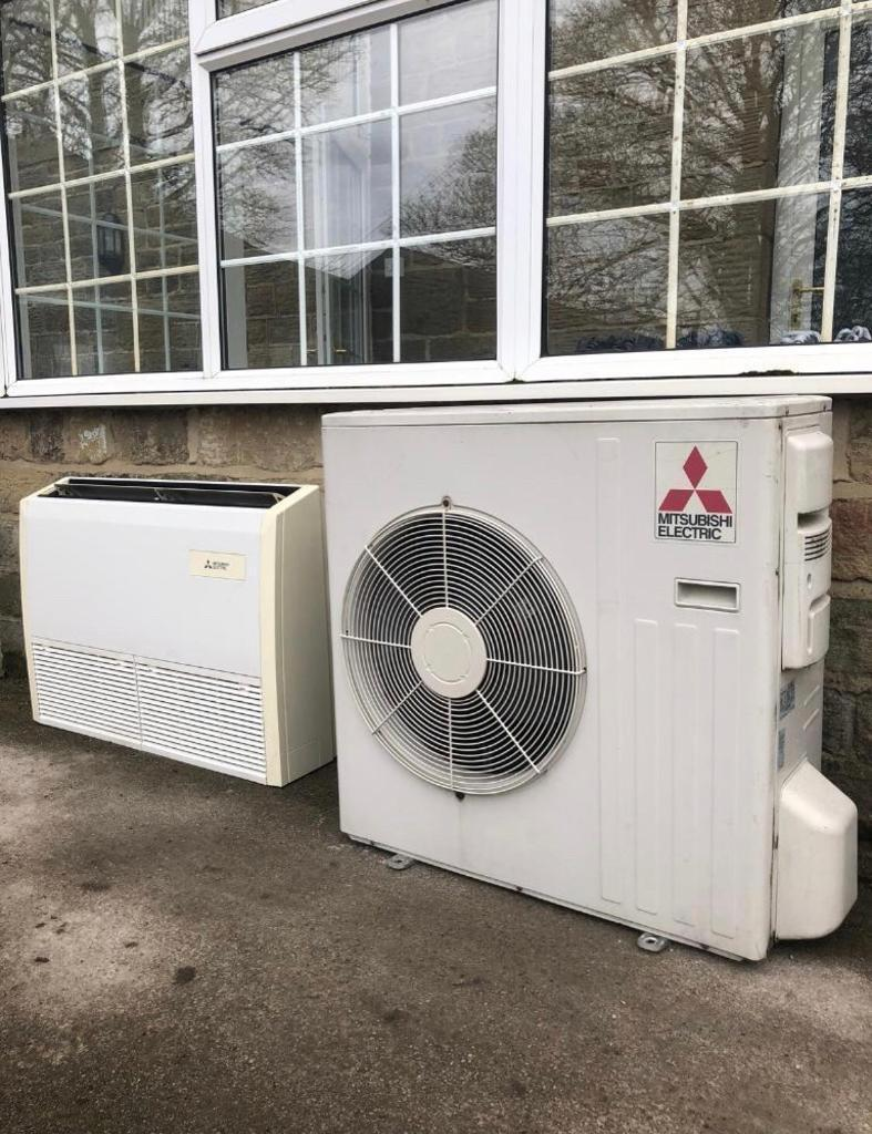 Mitsubishi Electric 5kw Air Conditioning Unit Split System Underslung Floor  Mounted A/C Heat Pump