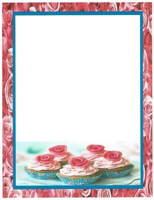 Rose Cupcakes Stationery Printer Paper 26 Sheets](Rose Cupcakes)