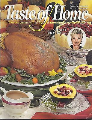 Taste Of Home Magazine Thanksgiving Recipes Autumn Potluck Halloween Treats 2001