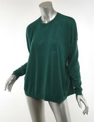 ACNE STUDIOS Womens Green CHAREL MERINO Wool Pullover Long Sleeve Sweater XS NEW