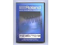 DVD OWNERS MANUAL FOR ROLAND TD12 AND 20