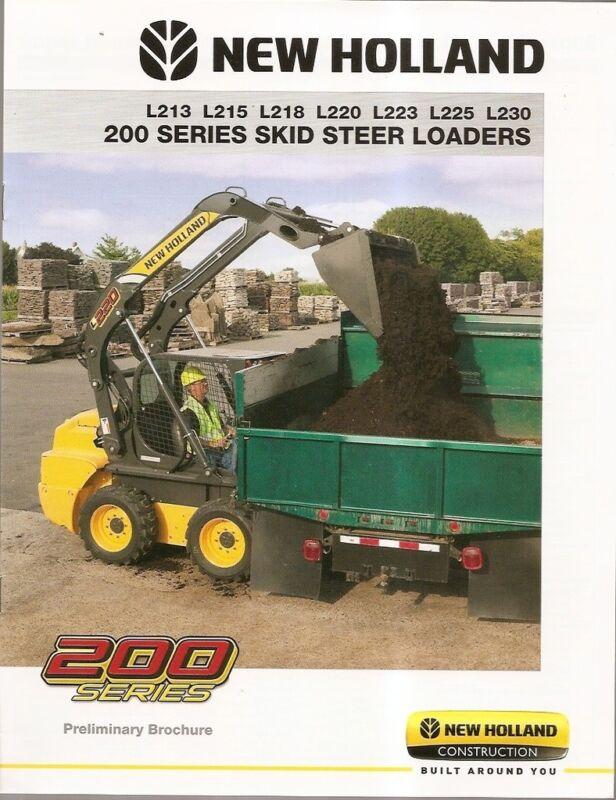 Equipment Brochure - New Holland - 200 Series Skid Steer Loader 2010 (E1120)