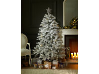 Marks and Spencer 6ft White flock Christmas Tree Used for the past two years excellent condition