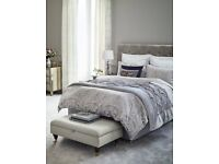 M&S VELVET THROW in natural colour for Double/King bed