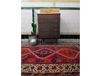 EVA - Antique Traditional Vintage Persian Wool 265 x 125cm Handmade Carpet Rugs
