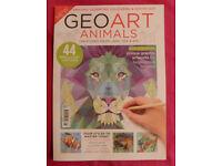 Geo Art Animals Bookazine/Book/Magazine (Geometric Colouring & Dot–To–Dot)