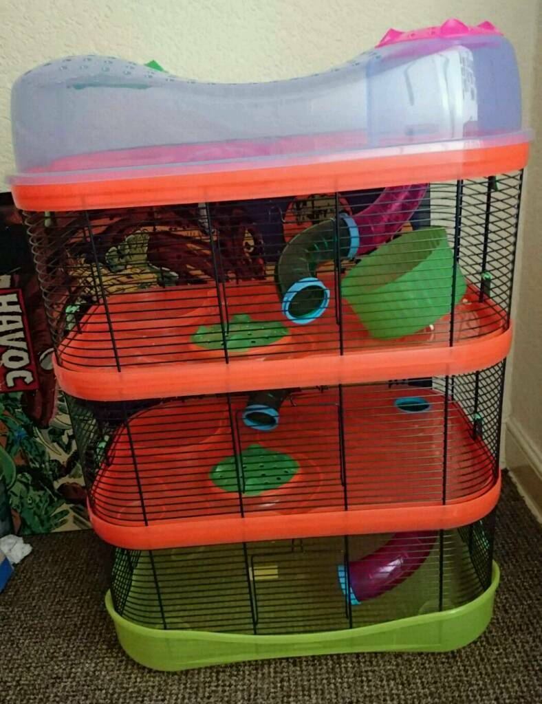 Imac fantasy hamster cage with two extensions plus accessories