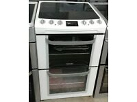 a191 white electrolux 55cm double oven ceramic hob electric cooker comes with warranty
