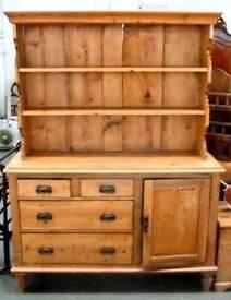 Vintage pine welsh dresser