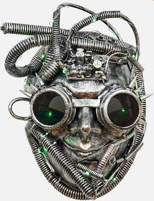 180 Degrees Steampunk Silver Mask Halloween Costume Underwater Space Decor Adult