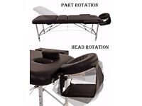 SALE!! Black Deluxe Lightweight Professional Massage Table Aluminium SALON Beauty Couch Bed