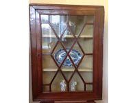 Antique Glazed Corner Cupboard