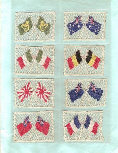 #D79.   SET OF 1916  LACE  FLAGS  CIGARETTE CARDS