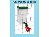 NEW CAGE DRINKER WITH 1 LITRE BOTTLE AND DRINKER CUP FOR POULTRY CHICKS PIGEON