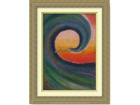 Hand painted Oil Pastels Art Painting The Wave Sea decoration
