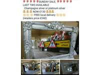 Stunning champagne silver or platinum silver chunky wooden frames brand new Sale