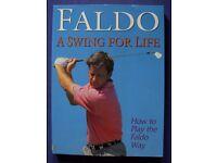 Golf Books by Hogan, Watson, Trevino, Faldo, Saunders and Gallwey