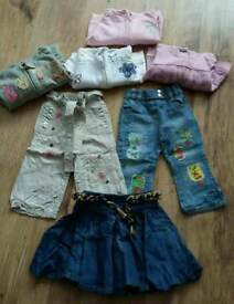 Girls jumpers, jeans & skirt age 12-18 month
