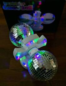 Twin Rotating LED Disco Ball Lights