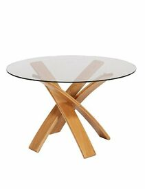 Jasper Glass Dining Table by Marks and Spencer