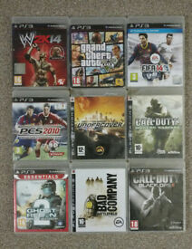 9 PS3 Playstation Games Bundle (Call Of Duty, GTA, Fifa, Need For Speed, Battlefield)