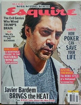 Esquire May 2017 Javier Bardem Brings The Heat Justin Theroux Free Shipping Sb