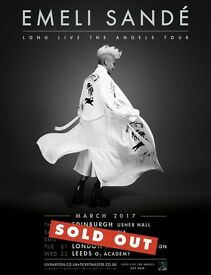4x Emeli Sande standing tickets, O2 Brixton Academy London, Tuesday 21st March 2017