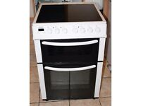 6 MONTHS WARRANTY Bush AA energy rated, double oven electric cooker FREE DELIVERY