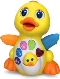 Wholesale 18Ms Old Baby Toy Musical Dancing Duck Flashing Lights Musical Toys (24 Units, £6.28/Unit)
