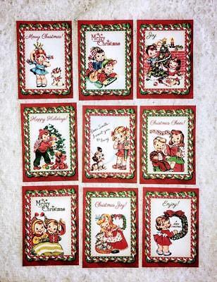 Set of 9 Cards~Vintage Christmas Kids~Pocket Pen Pal Cards only~No Sleeve~#138N (Kids Christmas Crafts)