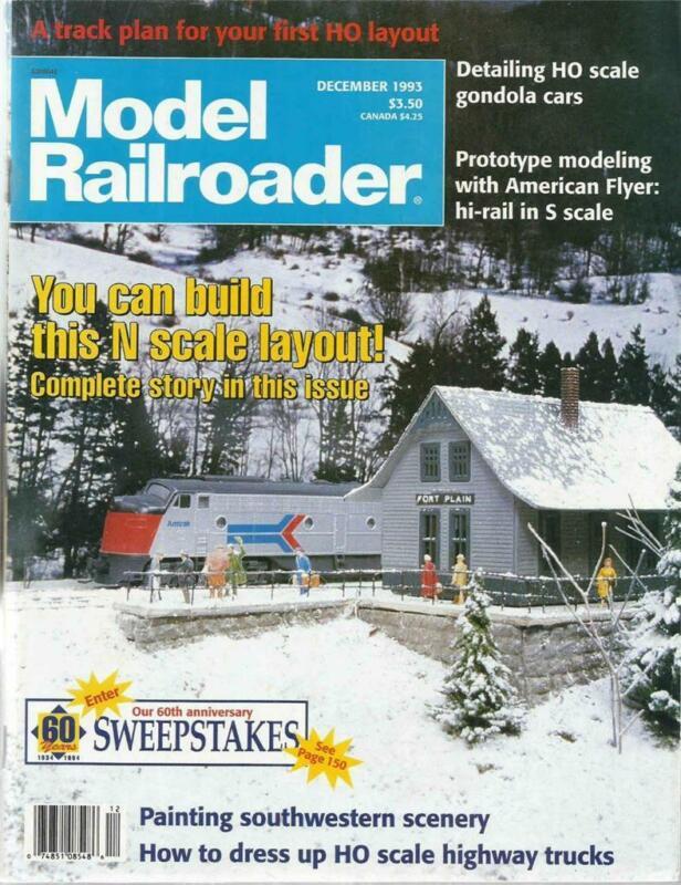 Model Railroader December 1993 Detailing Trucks & HO Scale Gondola Car Tips