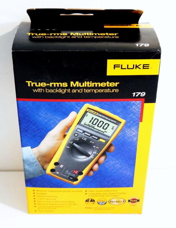 FLUKE 179 TRUE RMS DIGITAL MULTIMETER WITH TEMPERATURE BRAND NEW