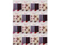 Wholesale Socks Bargain Price: Ladies/Women 120 Packs (240 Pairs) Flowers and Argyle designed socks