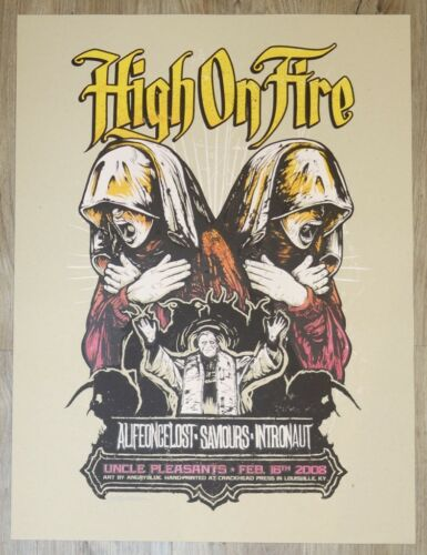 2008 High on Fire - Louisville Silkscreen Concert Poster S/N by AngryBlue