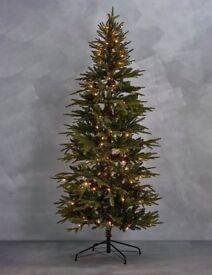 Marks-Spencer 7FT Fraser Fir Slim Per Lit Christmas tree New/Boxed